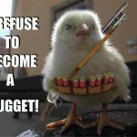 Funny Animal Memes - warrior chicken
