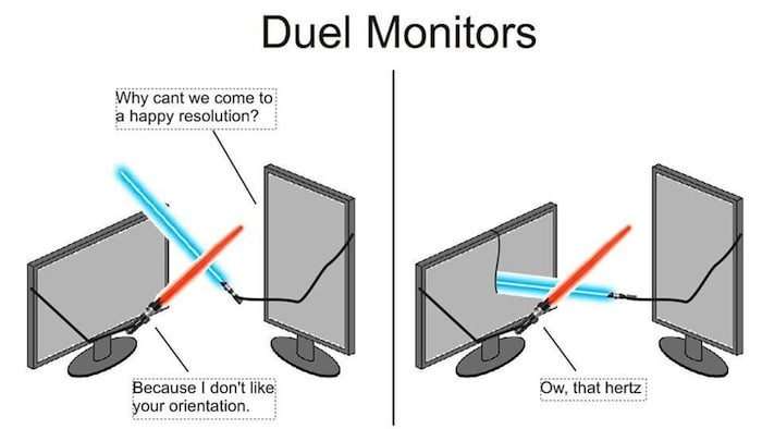 Funny Memes - duel of the monitors