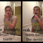Funny Memes - how i brush my teeth