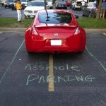 Funny Memes: asshole parking