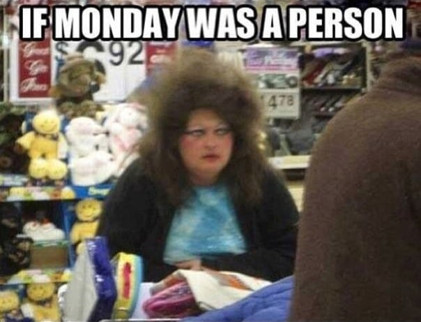Funny Memes -if monday was a person