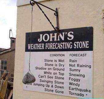 Funny Memes - weather stone