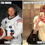 Funny Memes - went to the moon