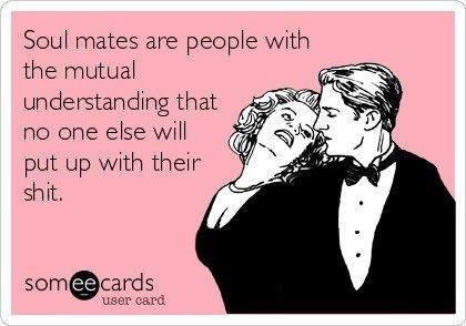 Funny Memes - Ecards - soul mates