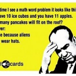 Funny Memes - Ecards - math word problems
