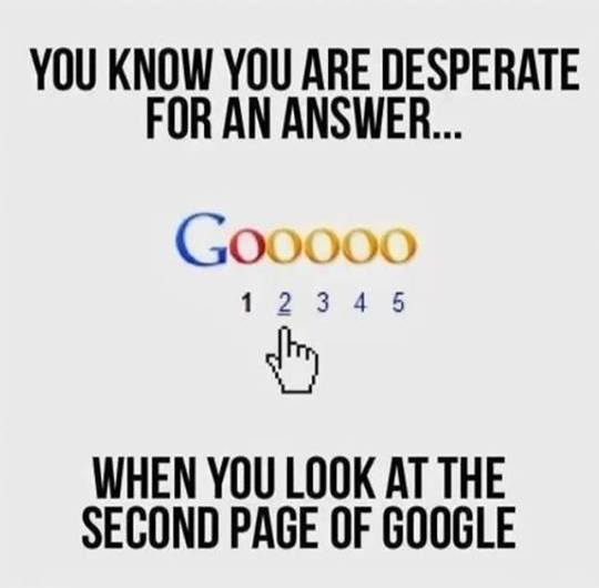 Funny Memes - second page of google
