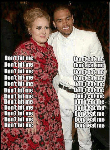 Funny Memes: adele vs chris brown