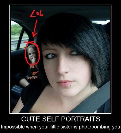 Funny Memes - serious photobombing