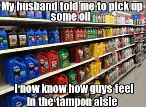 Funny Memes - tampon aisle