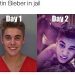 Funny Memes: biebs in jail