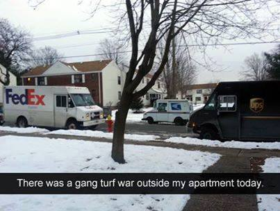 Funny Memes - courier turf war