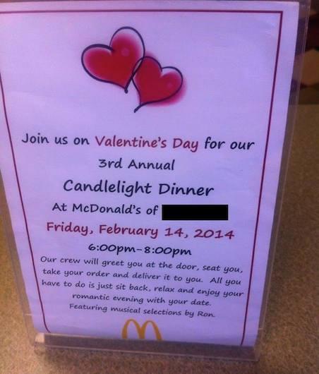 Funny Memes - mcdonalds valentine
