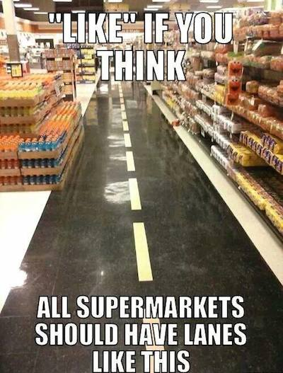 Funny Memes – Supermarket lanes