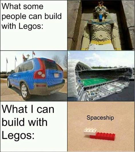 Funny Memes: build with legos