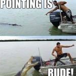 Funny Memes - pointing is rude