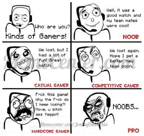 Funny Games Memes - kinds of gamers