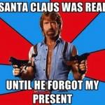 Funny Memes - santa vs chuck